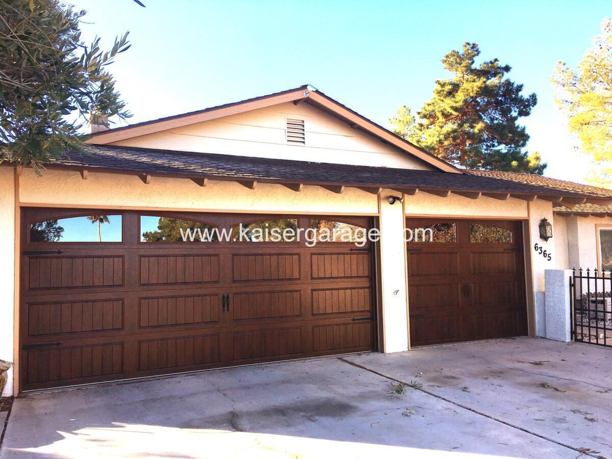 Kaiser Faux Wood Garage Doors