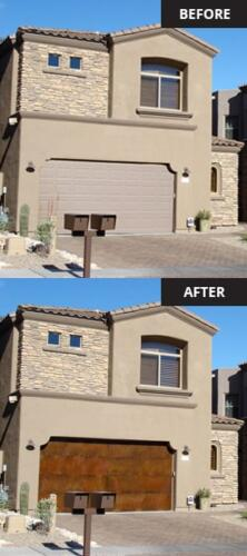 Kaiser Rustic Garage Doors in Pinetop, Arizona